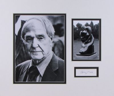 Henry Moore Autograph Signed Display For Sale